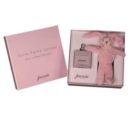 Jacadi Jour J Tout Petite Gift Set Eau de Senteur 100ml plus Plush Rabbit Natural Body Spray - No Alcohol or Synthetics