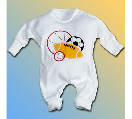 Sport Balls Baby Boy Outfit