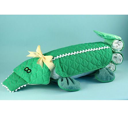 Alligator Changing Pad Diaper Cake Baby Gift