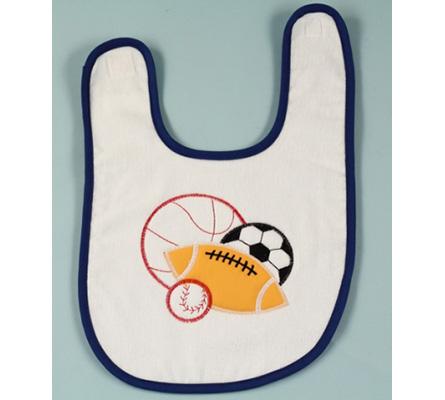 Baby Bib-Sport Balls Applique