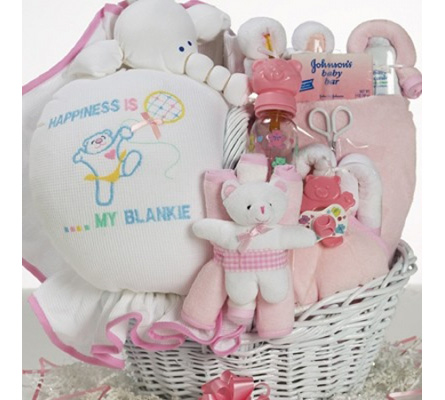 Baby Gift Basket Of Happiness Basket For Baby Girl