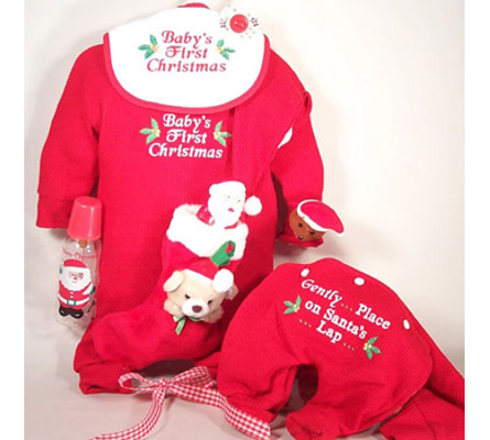 Baby'S First Christmas Outfit Gift Set