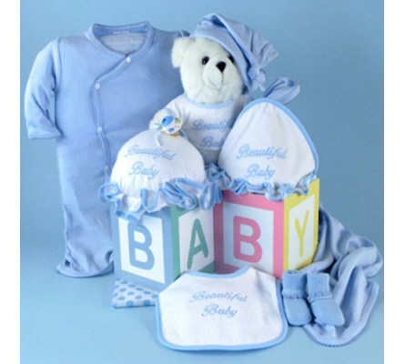 Beautiful Baby Boy Deluxe Layette Gift Set