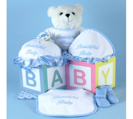 Beautiful Baby Boy Layette Gift Set