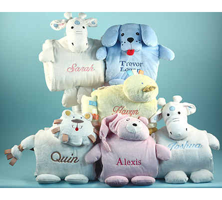 Blankie Buddie Character Personalized Baby Blankets