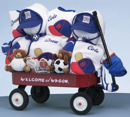 Boys Deluxe Welcome Wagon Personalized Gift For Twins
