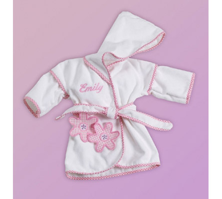 Daisies Hooded Cover-Up Personalized Baby Gift