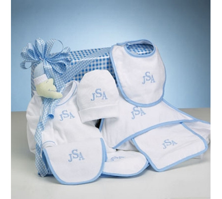 Deluxe Layette Personalized Baby Boy Gift