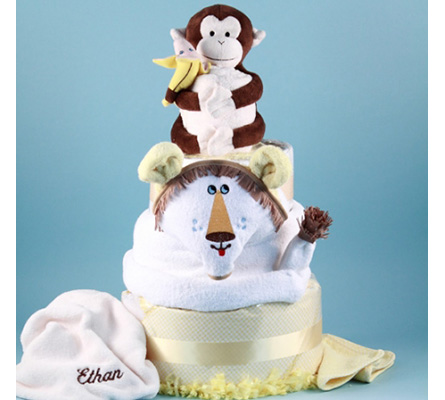 Deluxe Lion King Personalized Diaper Cake