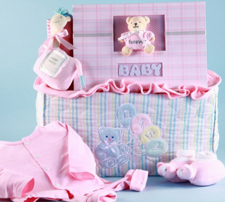 Deluxe Tote & Photo Album Baby Girl Gift