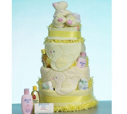 Duck Supreme Diaper Cake Baby Shower Gift