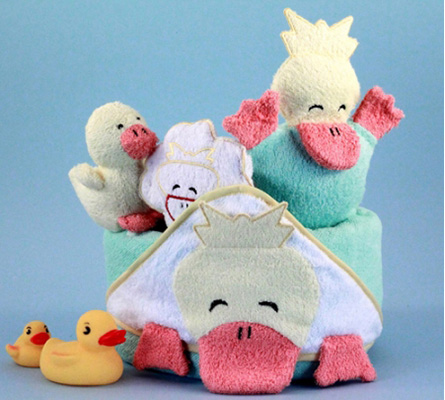 Ducky Hooded Towel Bath Time Baby Gift