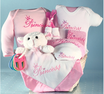 Fit For A Princess Baby Gift Basket