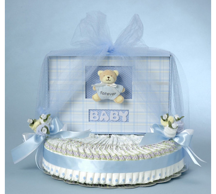 Forever Baby Book Diaper Cake- Boy Baby Gift