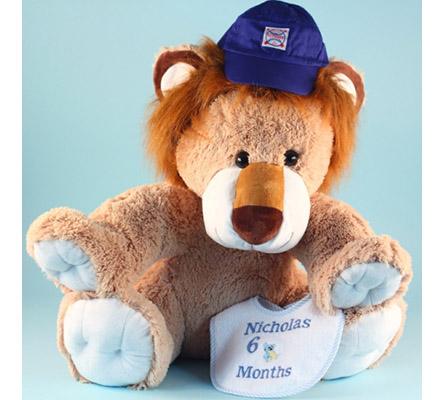 Giant Lion Plush Personalized Baby Gift Set