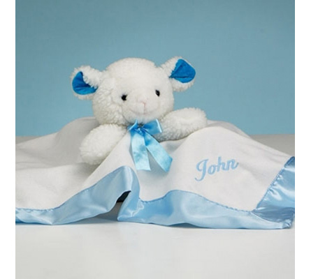 Lamb Snuggly Personalized Baby Boy Gift