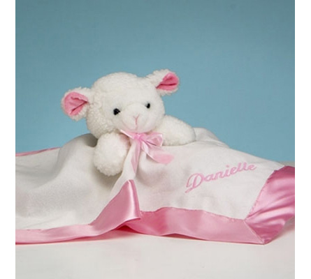 Lamb Snuggly Personalized Baby Girl Gift