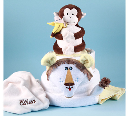 Lion King Personalized Diaper Cake Baby Gift