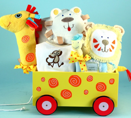 Newborn Baby Gift-Giraffe Plush Welcome Wagon