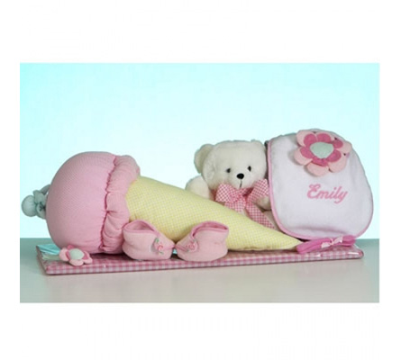 "Nice Creamâ""¢ Layette Personalized Baby Girl Gift"