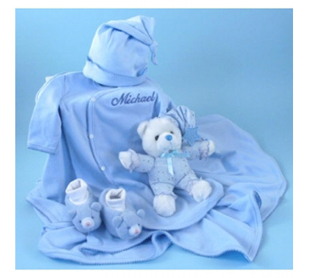 Nighty-Nite Personalized Baby Boy Gift