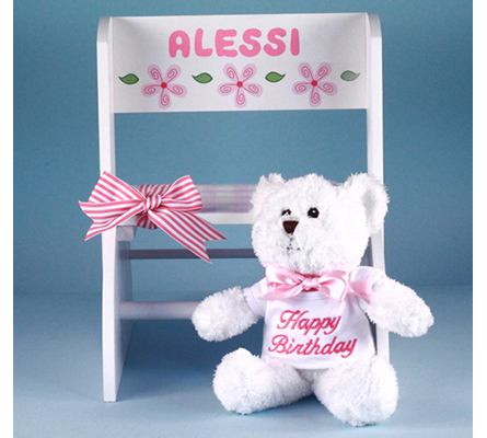 Personalized Step Stool First Birthday Gift-Girl