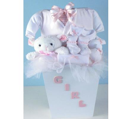Preemie Girl Layette Baby Gift Basket