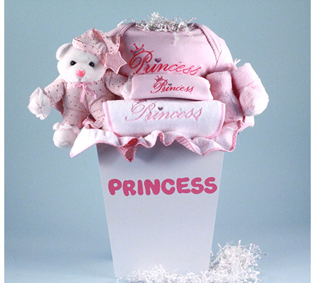 Princess Layette Baby Gift Basket