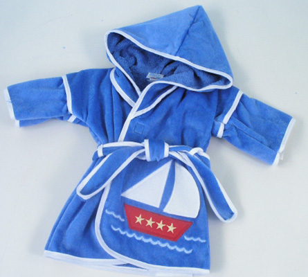 Sailboat Hooded Cover-Up Personalized Baby Gift