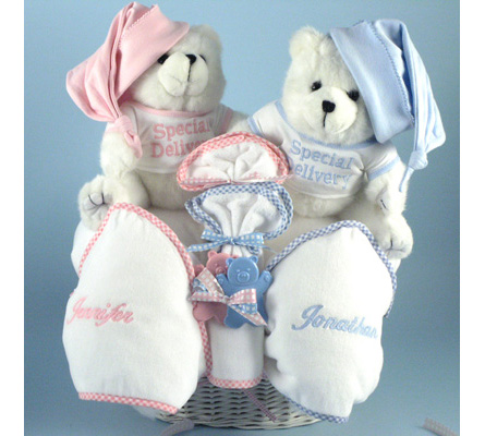 Special Delivery Baby Gift Basket Gift For Twins