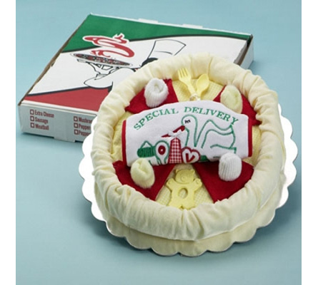 Special Delivery Pizza Baby Gift