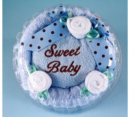 Sweet Baby Boy Hooded Towel Cake