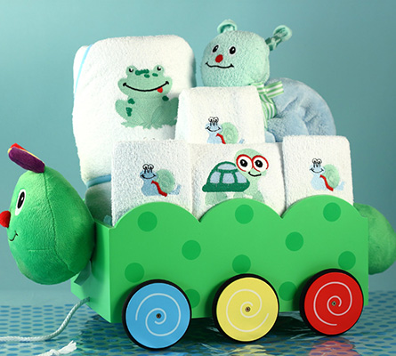 Unique Baby Boy Gift-Caterpillar Wagon Gift Set