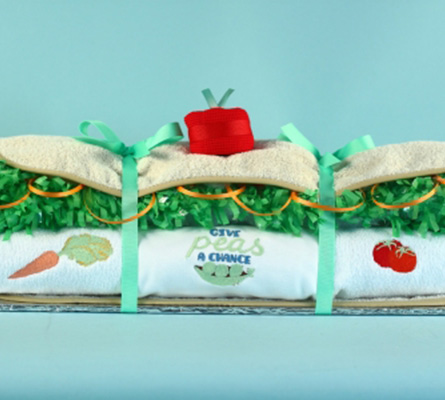 "Vegetarian Baby Hoagieâ""¢ Baby Gift"
