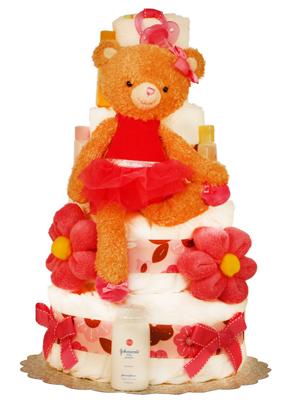 Hot Ballerine 4 tiers Diaper Cake