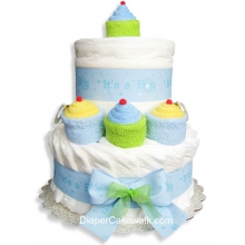 It's A Boy! Mini Diaper Cake