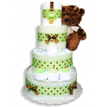 Neutral Sampler Baby Diaper Cake