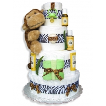 Jungle Safari Diaper Cake - Neutral 4 Tier