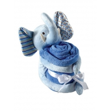 Plush Elephant Animal & Blanket, Blue