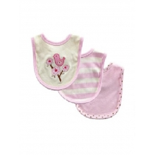 Touched by Nature Organic Bibs 3pk Girls