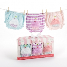 Baby Cakes Set of Three Cupcake Bloomers (0-6 Months and 6-12 months)