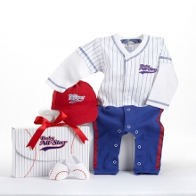 Big Dreamzzz Baby Baseball Three-Piece Layette Set in All-Star Gift Box