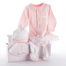 Big Dreamzzz Baby Ballerina Two-Piece Layette Set in Studio Gift Box