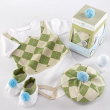 Sweet Tee Three Piece Golf Layette Set in Golf Cart Packaging