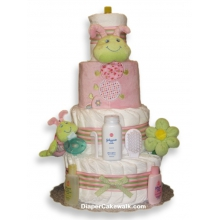 Cutsie Caterpillar Baby Girl Diaper Cake