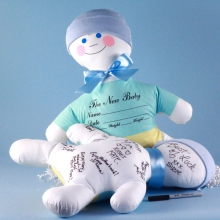 Baby Shower Keepsake Autograph Doll Baby Boy Gift
