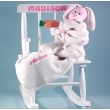 Baby's First Rocking Chair Personalized Baby Girl Gift
