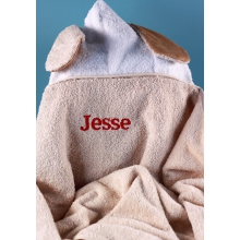 Woof, Woof, Woof Baby Hooded Towel Personalized