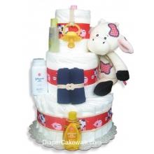 Barn & Bale Diaper Cake