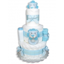 Blue Lion Baby Diaper Cake
